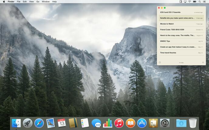 Notefile 2.7.2 for Mac screenshot