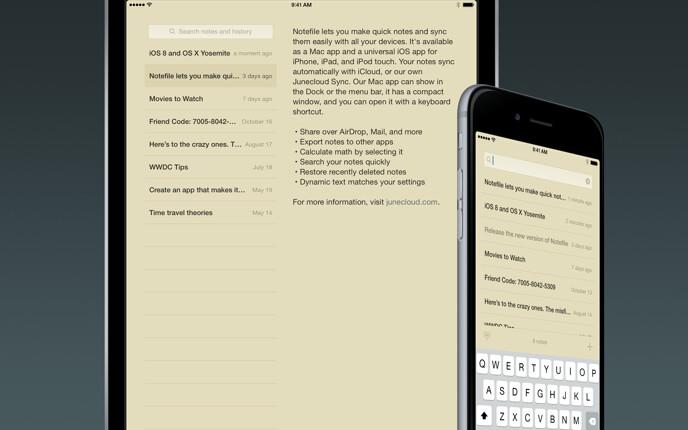 Notefile 2.7.4 for iOS screenshot