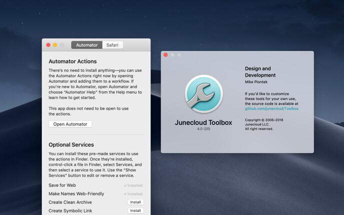 Junecloud Toolbox 4.0 screenshot